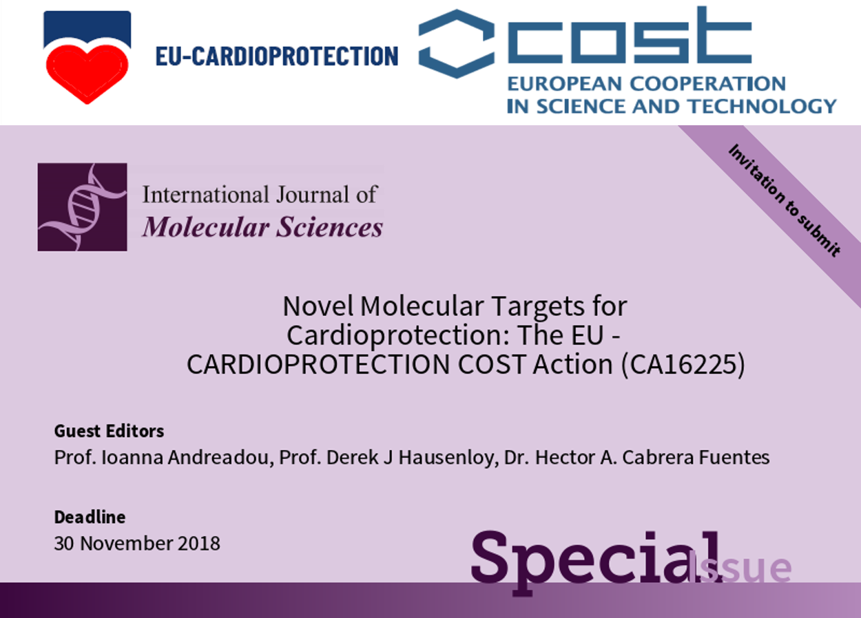 "Special Issue ""Novel Molecular Targets for Cardioprotection: The EU-CARDIOPROTECTION COST Action (CA16225)"""